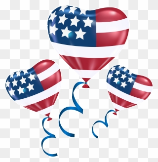 07f89dbefb7 Clip Royalty Free Library 4th Of July Clipart Png - American Flag Balloons  Transparent