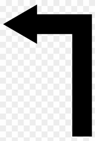 10535c6a9 Arrow Straight Angle Turning To Left Comments Clipart (#3004138 ...