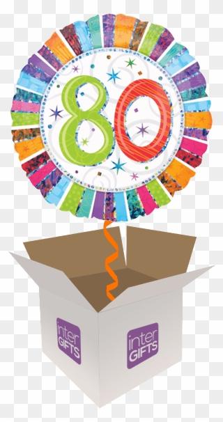80th Rainbow Colours 80th Birthday Balloon Clipart 3230081