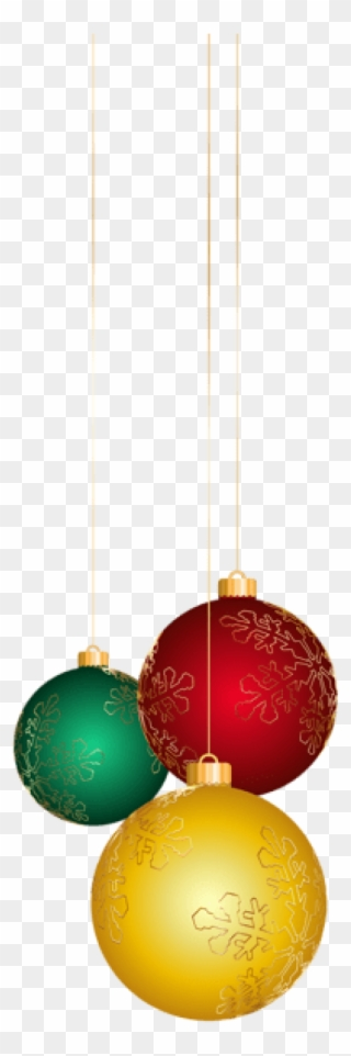 Transparent Red Christmas Ball Ornaments Clipart Christmas