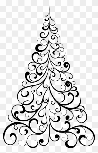 Christmas Tree Design Element Vector Png And Image Plain Christmas Tree Cut Out Clipart 4938264 Pinclipart