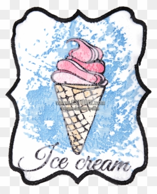 Ice Cream In Summer Large Patch For Shirts