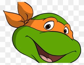 Face Clipart Tmnt Ninja Turtle Michelangelo Face Png Download
