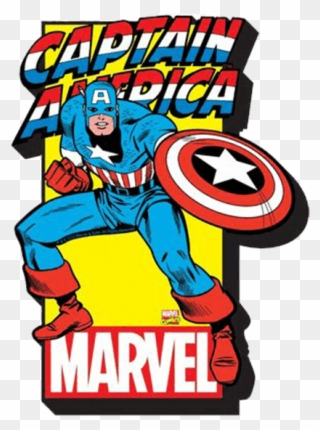 Comic Book Cover Clipart - Captain America Logo Magnet - Png