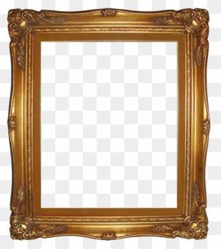 d07f066b7dde Bracket Frame Border Transparent Beauteous Gold Frame - Vintage Picture  Frame Png Clipart