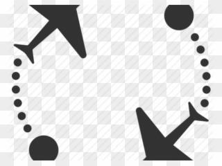 Flight Clipart Plane Route Black And White Ferris Wheel Clipart