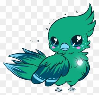 Drawn Parrot Kawaii Cartoon Kawaii Cute Birds Clipart 3453777 Pinclipart