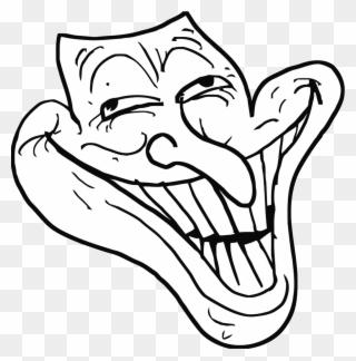 Trollface Png Transparent Weird Troll Face Clipart 3467561 Pinclipart