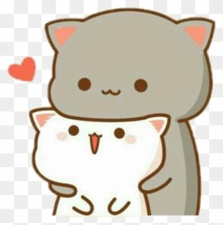 Cat Sticker Kawaii Wallpaper Love Clipart 3678549 Pinclipart