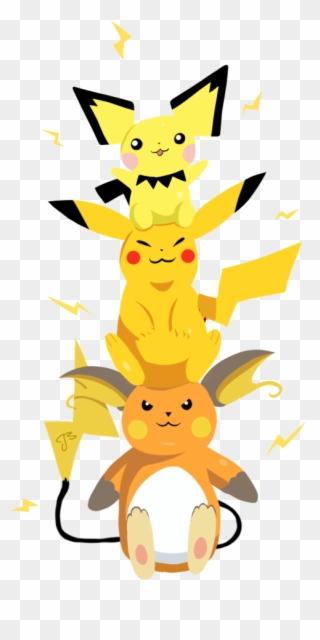 Raichu Pikachu Pichu Pichu Pikachu Raichu Png Clipart