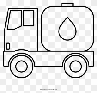 Water Tank Truck Coloring Page Oil Tanker Truck Drawings Clipart
