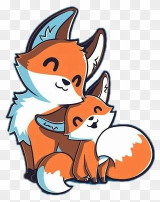 Cute Sticker Kawaii Cute Fox Drawings Clipart Full Size