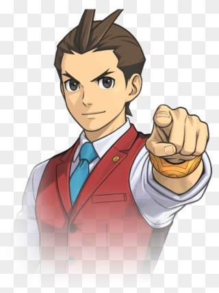 Ace Attorney Clipart Png Phoenix Wright Faces Transparent Png