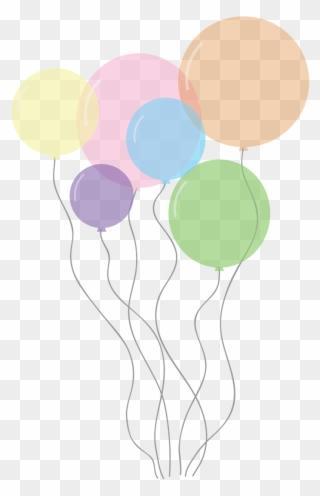 Balloon pastel. Free png celebration balloons