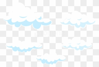 Cartoon clouds invisible background. Free png clip art