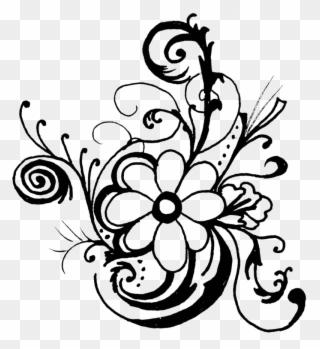 Black floral frame design, Black rose Best borders Flower bouquet , floral  corner transparent background PNG clipart | HiClipart