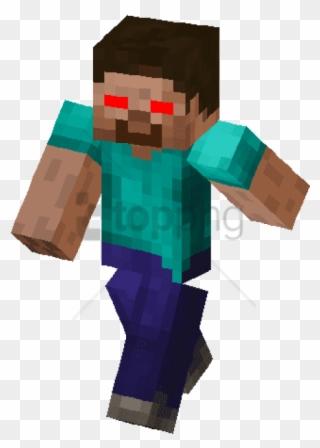 Free Png Minecraft Funny Steve Skin Png Image With Herobrine