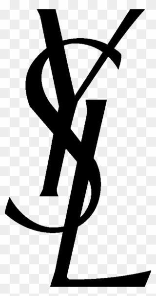 Yves Saint Laurent Logo - Yves Saint Laurent Logo Vector Clipart (#4147564) - PinClipart