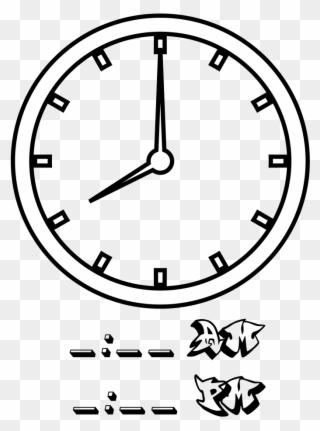 Clip Art Kid Playing Clock Time Pinterest