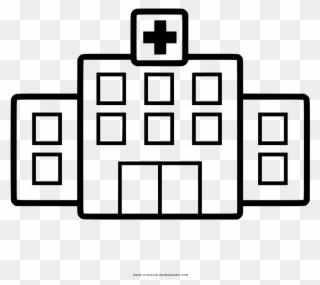 Krankenhaus Ausmalbilder Hospital Para Pintar Clipart