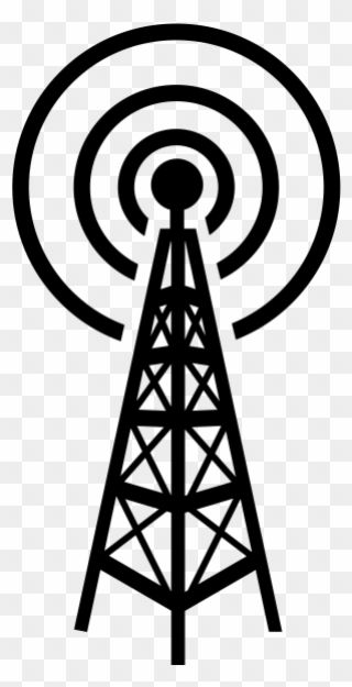 Radio Antenna Clipart Aerials Telecommunications Tower