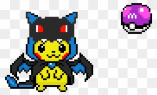 Master Ball Pikachu With Charizard Pikachu Charizard Pixel