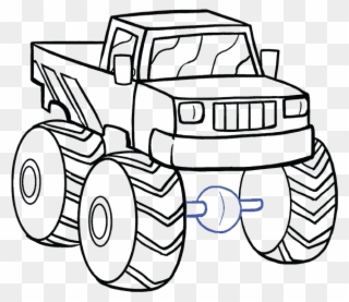 Fire Truck Drawing Easy At Getdrawings Com Step By Step Drawing Monster Truck Clipart 474089 Pinclipart