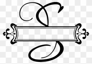 8b29168922f Clip Art Transparent Library Fancy Letters Clipart - Split Monogram Letter H  - Png Download