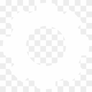 Cog Icon White Png Clipart - Full Size Clipart (#497960