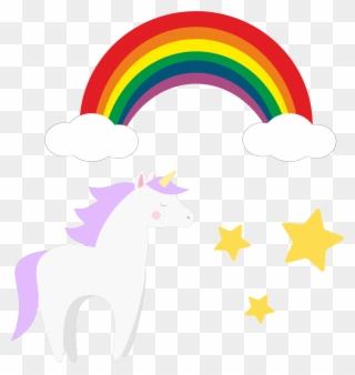 Pixelart Sticker Unicorn Rainbow Pixel Art Clipart Full