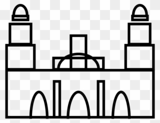 Mexico City Metropolitan Cathedral 1 - Line Art Clipart