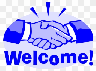 Welcome images with hands clip arts
