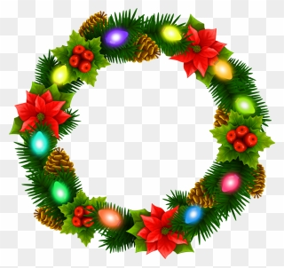 Free Png Christmas Wreath Clip Art Download Page 2 Pinclipart