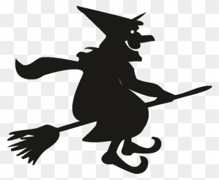 Witchcraft Silhouette Witch S Broom Drawing Free Commercial Flying Witch Silhouette Png Clipart 123421 Pinclipart