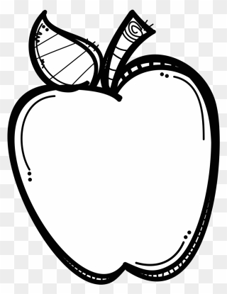 Teacher Apple Clipart Black And White Png Download 5266709 Pinclipart