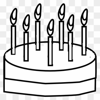 Free Png Cake Black And White Clip Art Download Pinclipart
