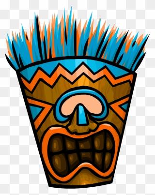 Clip art of happy tiki totem free image