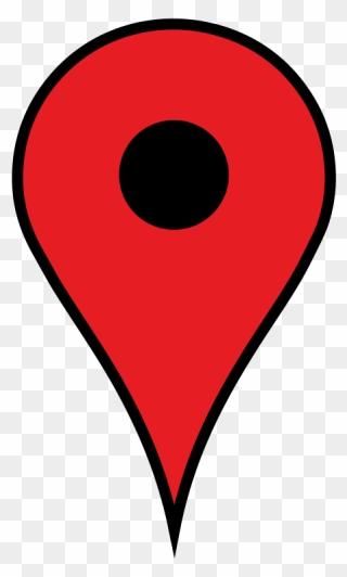 Google Maps Pin Blue Svg Clip Arts Circle Png Download 5378846 Pinclipart