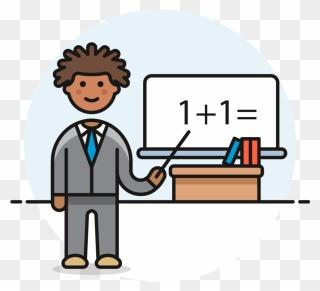 Maths Teacher Clipart - Full Size Clipart (#2655949) - PinClipart
