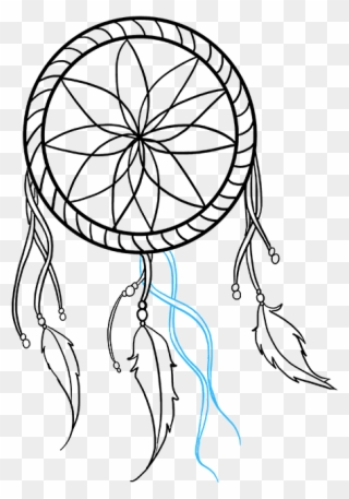 How To Draw Dream Catcher Simple Dream Catcher Drawing Clipart