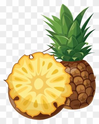Pineapple Cartoon Pineapple Transparent Background Clipart 328050 Pinclipart