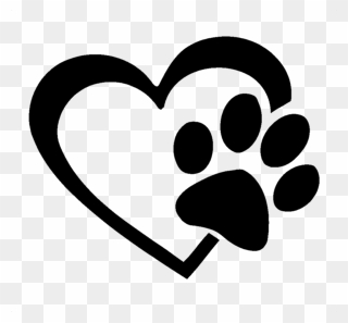 Free PNG Paw Print Heart Clip Art Download - PinClipart