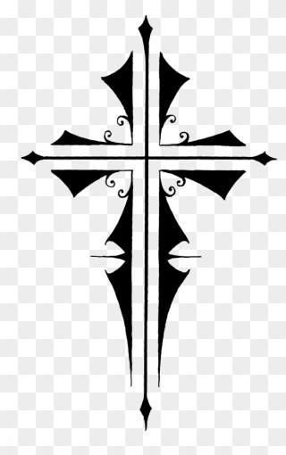 cross tattoos clipart transparent background - tribal cross tattoo - png  download - full size clipart (#15698) - pinclipart  pinclipart.