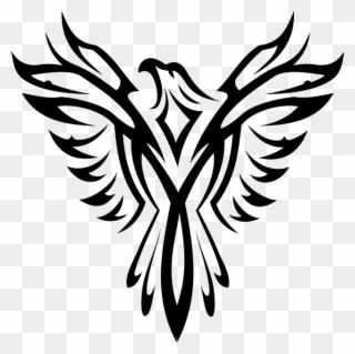 Black Symbol White Eagle Bird Aquila Tattoo Phoenix Symbols Clipart Full Size Clipart 577512 Pinclipart