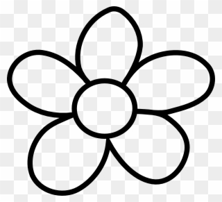 Flower black and white cute. Gallery of clip art