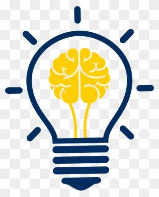 Continuing Education Icon Creative Brain Idea Light Bulb