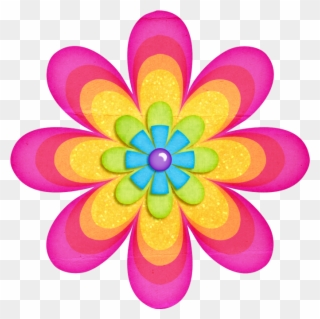 Flowers Clip Art Flower Png Imprimibles De Colores ...