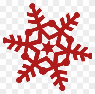 Snowflakes red. Free png snowflake clip