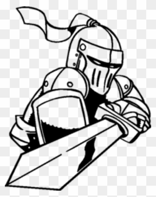 Knight With A Sword Drawing Clipart 842659