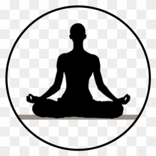 Meditation Clipart Yoga Class Person Meditating Silhouette Png Download Full Size Clipart 857667 Pinclipart